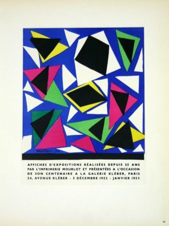 Lithographie Matisse - Affiches D'Expositions
