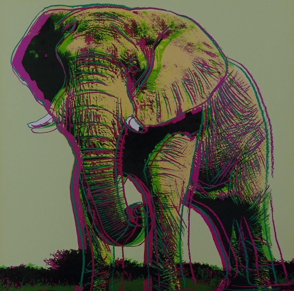 Sérigraphie Warhol - African Elephant