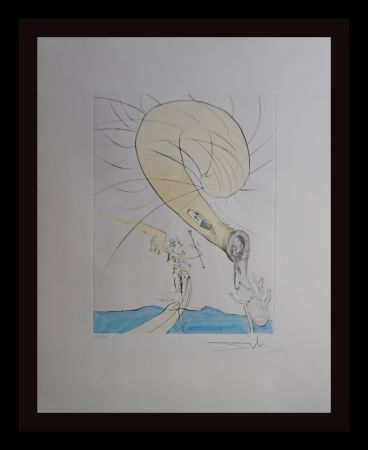 Gravure Dali - After 50 Years of Surrealism Freud with Snail-Head