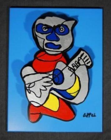 Gravure Sur Bois Appel - (AFTER APPEL) Indigo Blue
