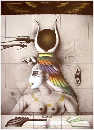 Lithographie Wunderlich - Aida
