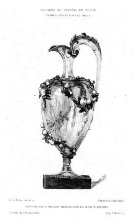 Gravure Buhot - Aiguière en cristal de roche