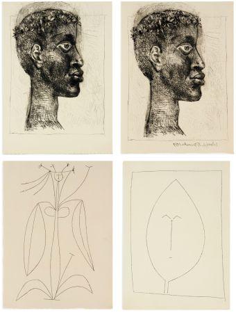 Livre Illustré Picasso - Aimé Césaire : CORPS PERDU. 32 gravures + suite sur Japon (1950)