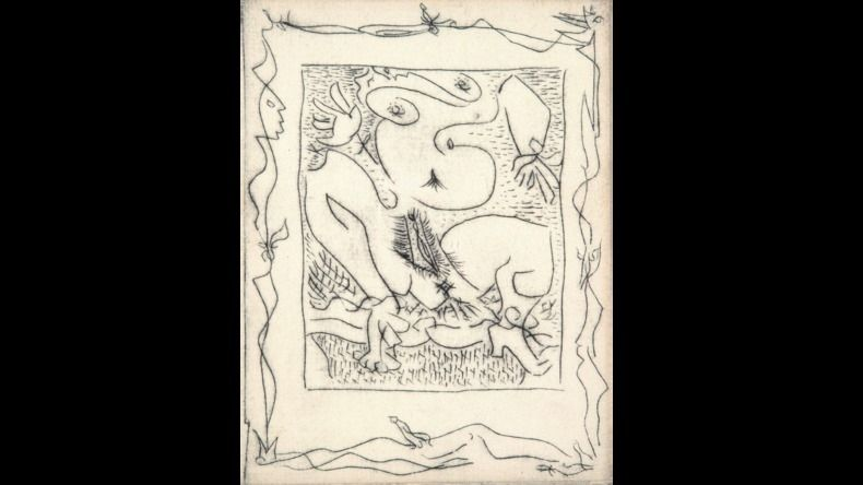 Livre Illustré Masson - AINSI DE SUITE (Pierre-André Benoit. 1960). 6 gravures érotiques.