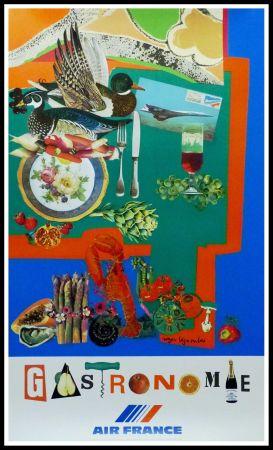 Affiche Bezombes - AIR FRANCE GASTRONOMIE