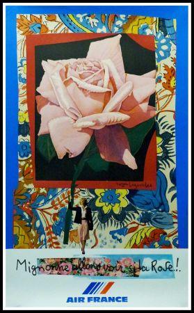 Affiche Bezombes - AIR FRANCE 'MIGNONNE ALLONS VOIR SI LA ROSE....
