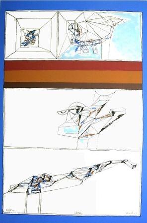 Lithographie Perilli - Aktion