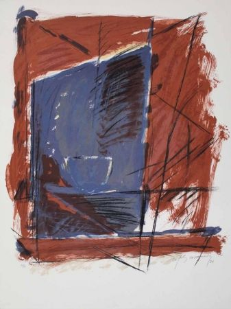 Lithographie Ràfols Casamada - A.L. (avant la lettre) Barcelona 84