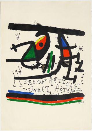Lithographie Miró - A.L Exposición 1971