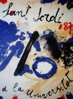Lithographie Guinovart - AL Sant Jordi a la Universitat