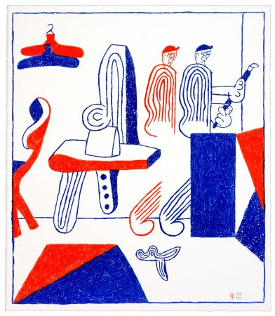 Lithographie Behncke - Albert Mertz