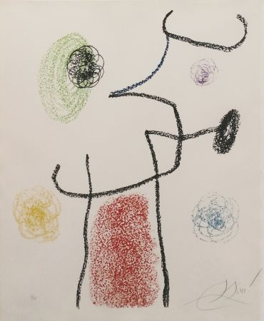 Lithographie Miró - ALBUM 21: ONE PLATE