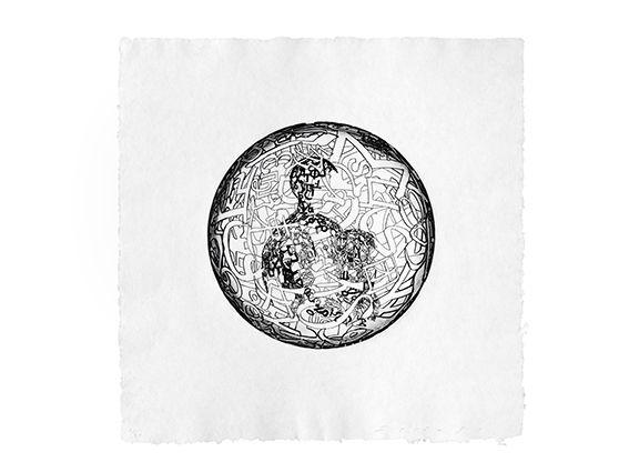 Gravure Plensa - Alchimistes 4