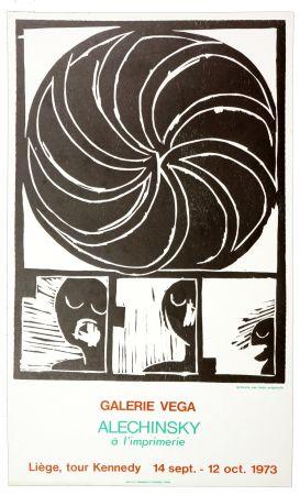 Affiche Alechinsky - Alechinsky à l'imprimerie 1973