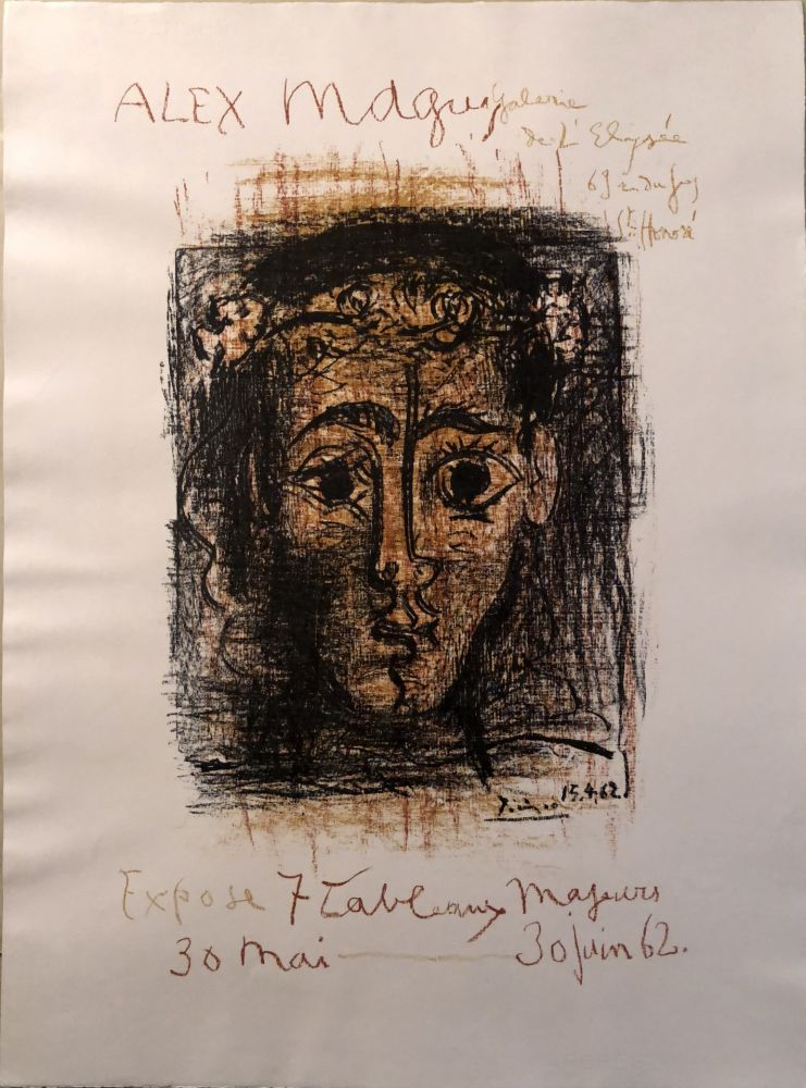 Lithographie Picasso -  Alex Maguy expose 7 tableaux majeurs -