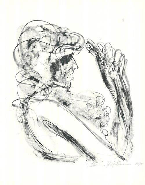 Lithographie Höckelmann - Alexandra
