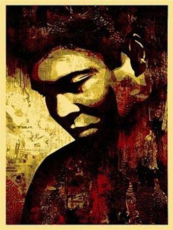 Sérigraphie Fairey - Ali Canvas