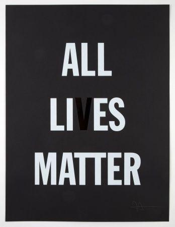 Lithographie Hank - All Li es Matter