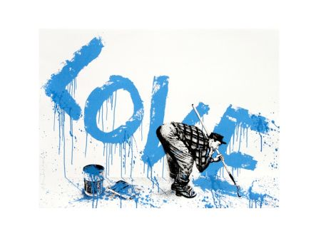 Sérigraphie Mr. Brainwash - All You Need Love Blue