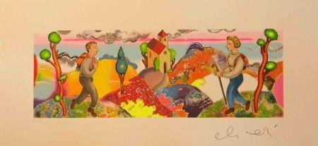 Sérigraphie Alinari - ''Alla stessa ora ma in un cosmo analogo''