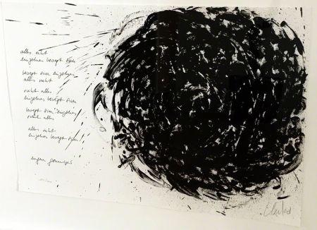 Lithographie Uecker - Alles ruht, einzelnes bewegt sich