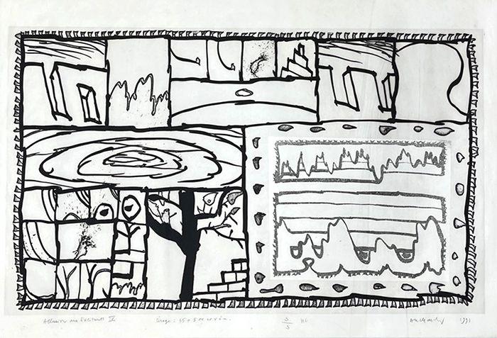 Gravure Alechinsky - Allusion au traité des excitants