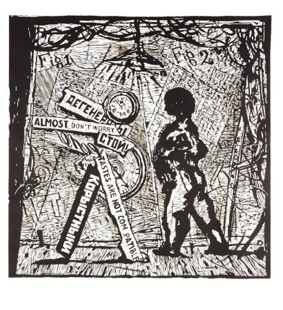 Linogravure Kentridge - Almost Don't Worry