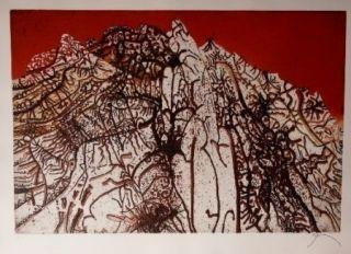 Eau-Forte Et Aquatinte Prassinos - Alpine rouge
