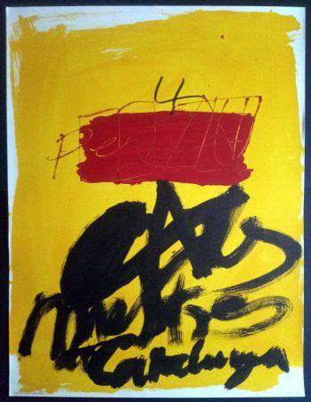 Affiche Tàpies - Als mestres de Catalunya