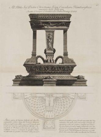 Gravure Piranesi - Altar de Apolo
