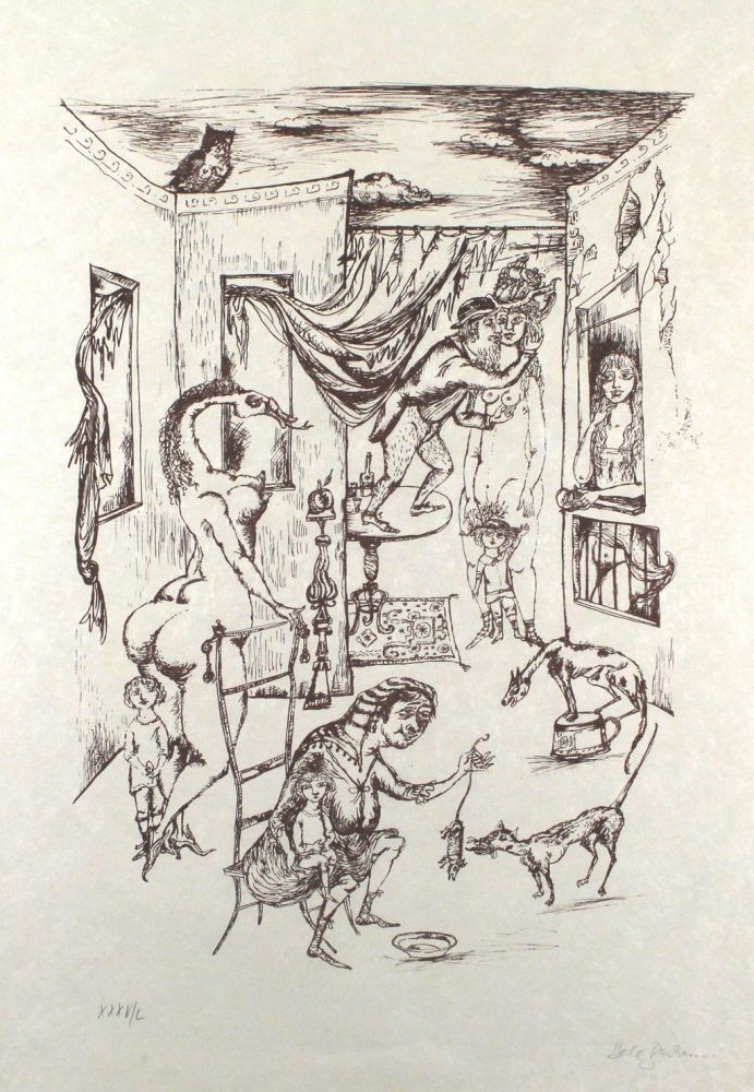 Lithographie Bachem - Alternde Paris Zum Muttertag