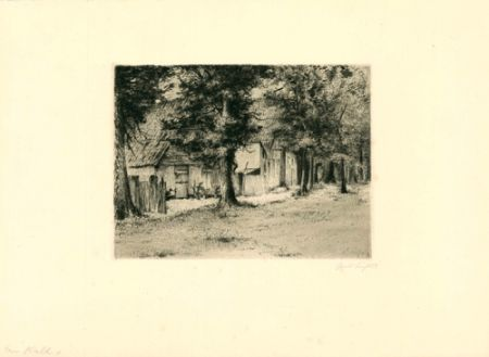 Gravure Fuchs - Am Wall