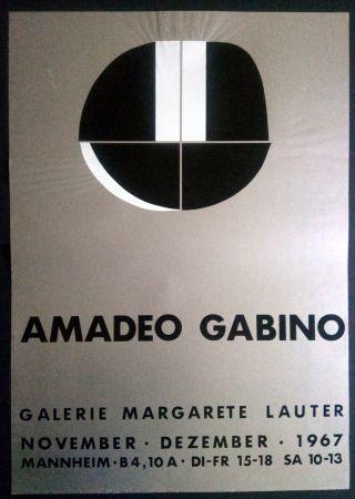 Affiche Gabino - Amadeo Gabino - Galerie Margarete Lauter 1967