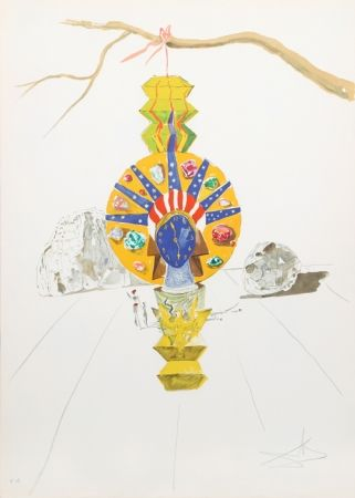 Lithographie Dali - American Clock (Timeless Statue) from Time