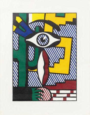 Gravure Sur Bois Lichtenstein - American Indian Theme III
