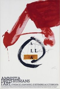 Affiche Tàpies - Amnistia, Drets Humans i Art