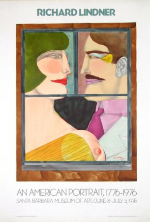 Lithographie Lindner - An American portrait Santa Barbara Museum