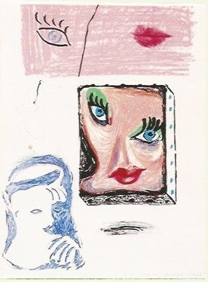 Lithographie Hockney - An image of Celia Study
