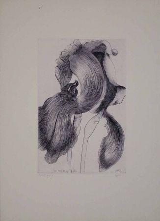 Eau-Forte Et Aquatinte Baskin - An Iris for Lisa