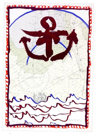 Lithographie Alechinsky - Ancrage d'encre
