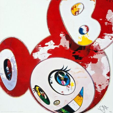Lithographie Murakami - And Then x6 (Red)