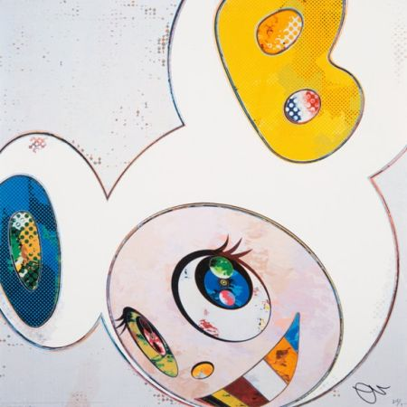 Lithographie Murakami - And Then x6 (White)