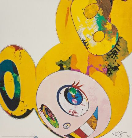 Lithographie Murakami - And Then... (Yellow)
