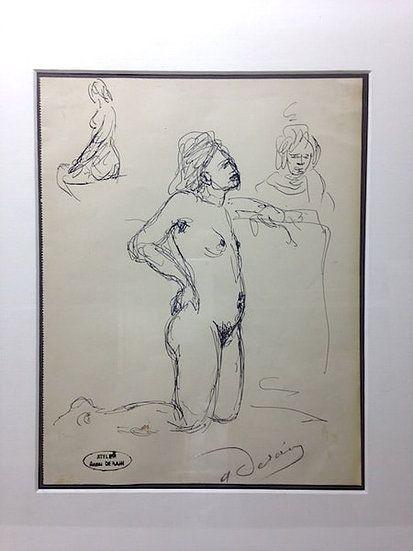 Aucune Technique Derain - André Derain (1880-1954). Etude de nu. Encre sur papier signée.