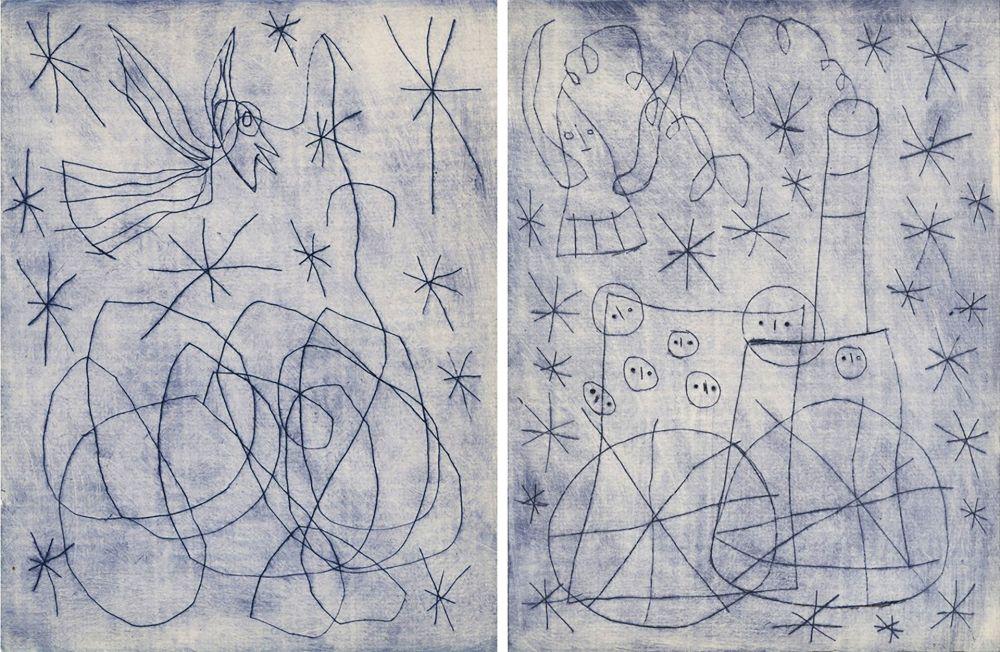 Livre Illustré Miró - André Frénaud : NOËL AU CHEMIN DE FER. [ALÈS, PAB, 1959].