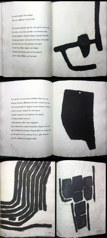 Livre Illustré Ubac - André Frénaud :VIEUX PAYS suivi de Campagne (1967). Avec suite signée.