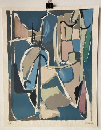 Lithographie Lanskoy - André Lanskoy (1902 - 1976). Moyse.