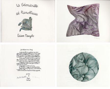 Livre Illustré Bury - André MARTEL : LA GÉOMÉTRILLE DÉ RAMOLLISSES. Textures paralloïdes d'André Martel vec dé mollimages de Pol Bury (1975)