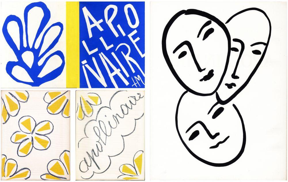 Livre Illustré Matisse - André Rouveyre : APOLLINAIRE. 7 lithographies et 1 gravure originales (1952)..