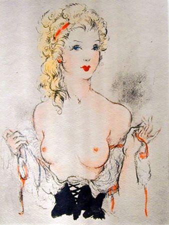 Livre Illustré Icart - Andréa de Nerciat : FÉLICIA OU MES FREDAINES. 20 eaux-fortes par Louis Icart (1947).